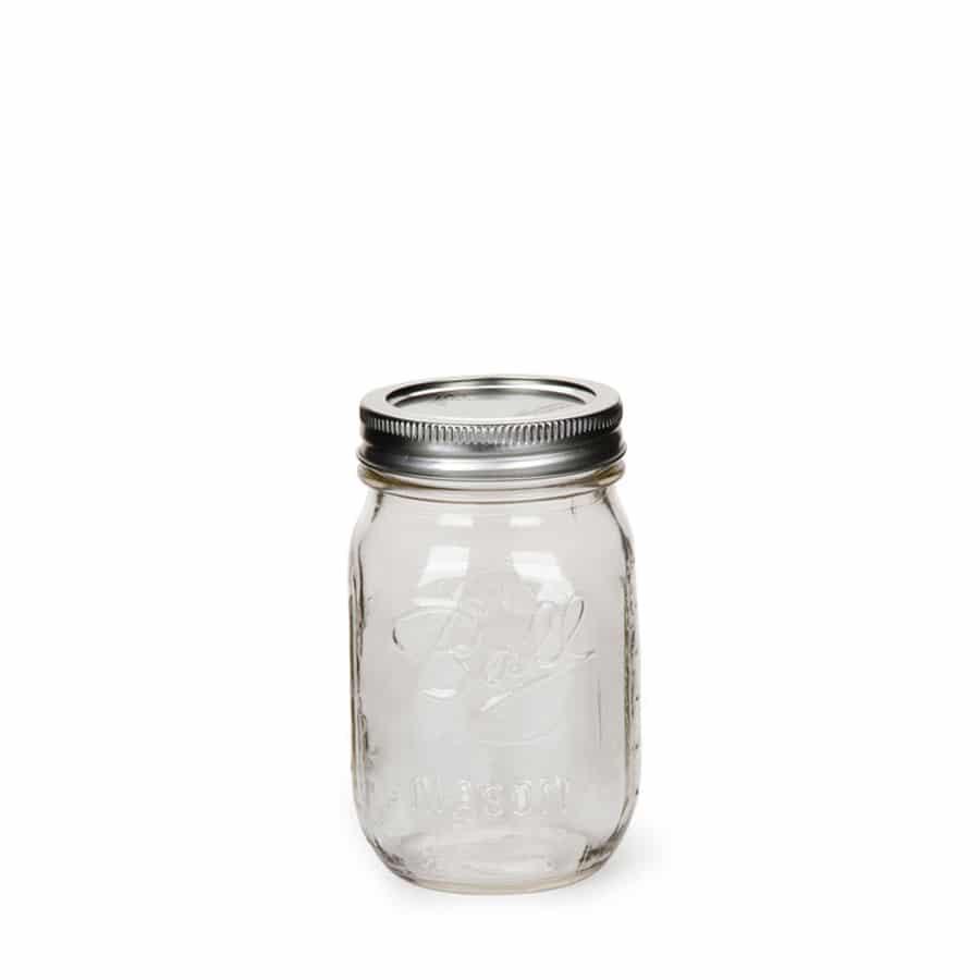 bocal mason jar 24 oz in good we trust. Black Bedroom Furniture Sets. Home Design Ideas